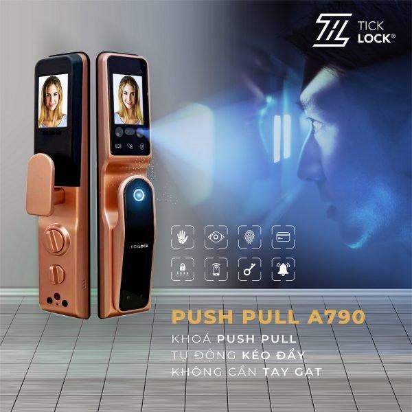 Khóa nhận diện mống mắt Ticklock push pull a790